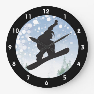 Snowboarding Design Clock