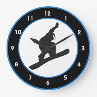 Snowboarding Design Wall Clock