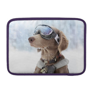 Snowboarding dog -dog winter -dog glasses sleeve for MacBook air