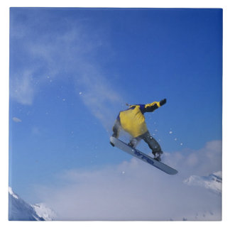 Snowboarding in Grizzly Gulch, Little Cottonwood Large Square Tile