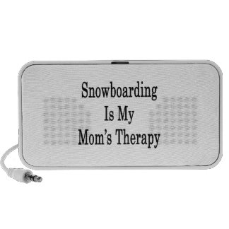 Snowboarding Is My Mom's Therapy Mp3 Speaker