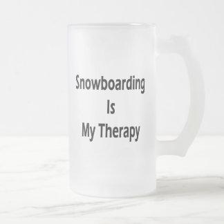 Snowboarding Is My Therapy Coffee Mug
