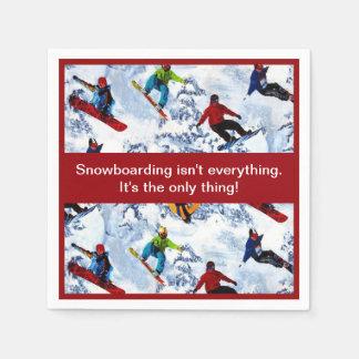 Snowboarding Isn't Everything Paper Napkins