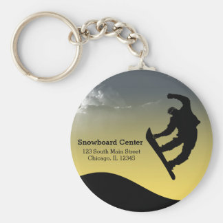 Snowboarding Key Ring