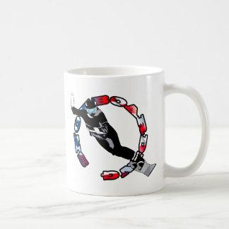 Snowboarding Basic White Mug