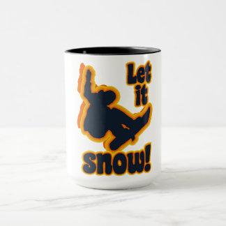 Snowboarding mug - choose style & color