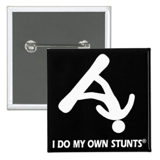 Snowboarding My Own Stunts Pinback Buttons