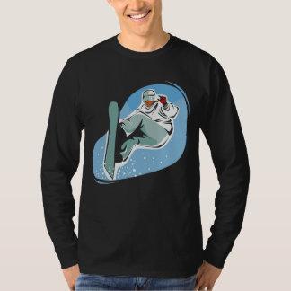 Snowboarding on Men's Basic Long Sleeve T-Shirt