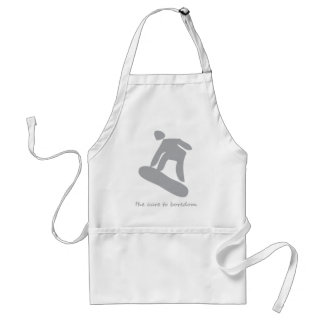Snowboarding.........the cure to boredom standard apron