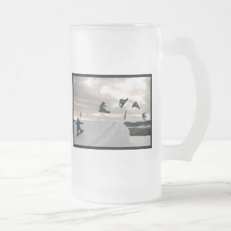Snowboarding Tricks Frosted Beer Mugs