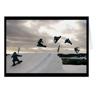 Snowboarding Tricks Greeting Card