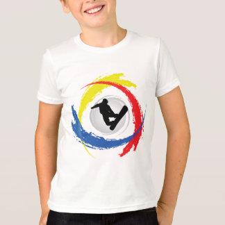 Snowboarding Tricolor Emblem T-Shirt