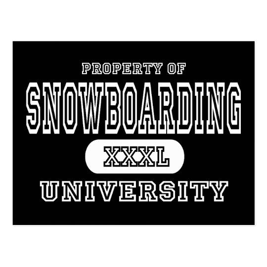 Snowboarding University Dark Postcard