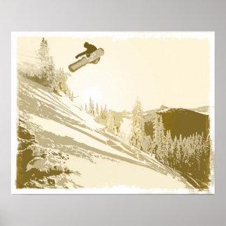 SnowboardSunset Poster