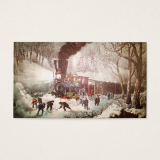 Snowbound Train Christmas Gift Tags
