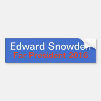 Snowden For President Bumper Sticker