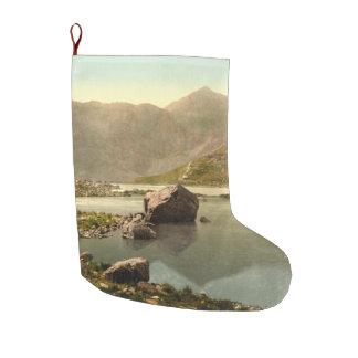 Snowdon from Llyn Llydaw, Gwynedd, Wales Large Christmas Stocking