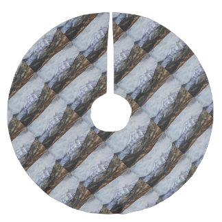 Snowdon Horseshoe in Winter.JPG Brushed Polyester Tree Skirt