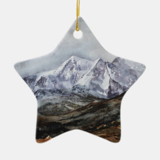 Snowdon Horseshoe in Winter.JPG Ceramic Ornament
