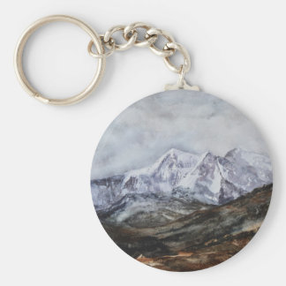 Snowdon Horseshoe in Winter.JPG Key Ring