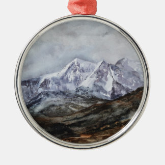 Snowdon Horseshoe in Winter.JPG Metal Ornament