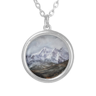 Snowdon Horseshoe in Winter.JPG Silver Plated Necklace