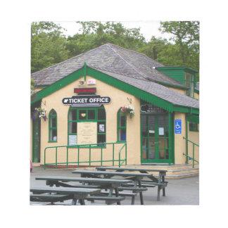 Snowdon Mountain Railway Station, Llanberis, Wales Notepad