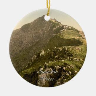 Snowdon - The Last Mile, Gwynedd, Wales Ceramic Ornament