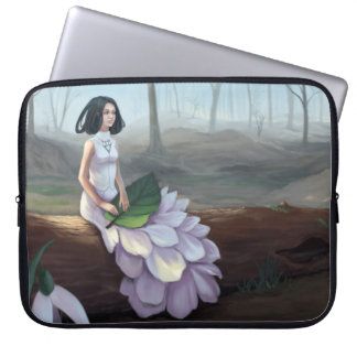 Snowdrop - Fantasy Girl Sitting in Spring Forest Laptop Sleeve