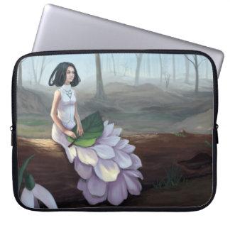 Snowdrop - Fantasy Girl Sitting in Spring Forest Laptop Sleeve