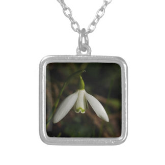 Snowdrop Flower Necklace