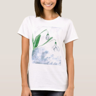 Snowdrop Flowers Painting 3 T-Shirt