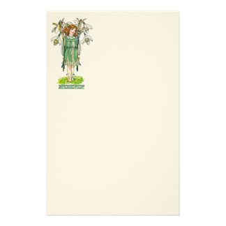 Snowdrop Girl Stationery Paper