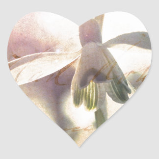 Snowdrop lyrical 01.01q heart sticker