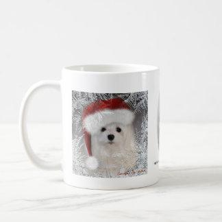 Snowdrop the Maltese Christmas Mug