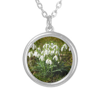 Snowdrops 02.2 (Schneegloeckchen) Silver Plated Necklace