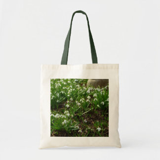 Snowdrops II (Galanthus) White Spring Flowers Tote Bag