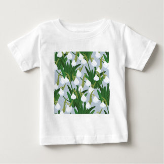 snowdrops pattern baby T-Shirt