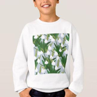 snowdrops pattern sweatshirt