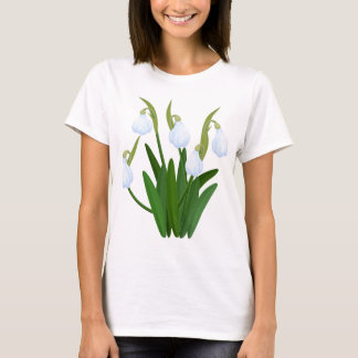snowdrops pattern T-Shirt
