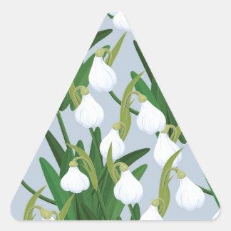 snowdrops pattern triangle sticker