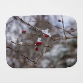 Snowed Berries Burp Cloth