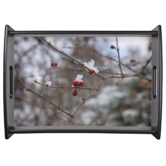 Snowed Berries Serving Tray