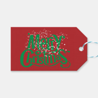 Snowed Merry Christmas Print Gift Tags