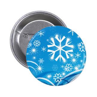 Snowfall 6 Cm Round Badge