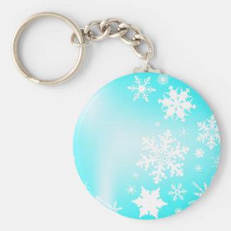 Snowfall Basic Round Button Key Ring
