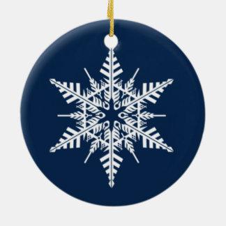 Snowfall Round Snowflake Ornament