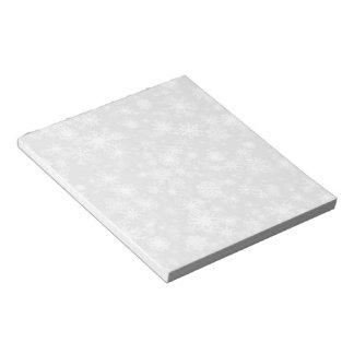 Snowfall White Notepad