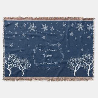 Snowfall Wintry Custom Throw Blanket