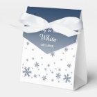Snowfall Wintry Wedding Favour Bag Favour Box